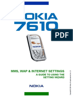 Nokia 7610 SettingWizard