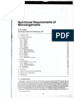 Nutritional Requirements of Microorganisms