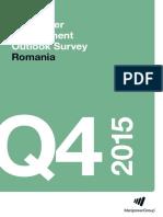 Manpower Employment Outlook Survey Romania Q4 15