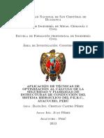 OPTIMIZACION AL CALCULO DE LA SEGURIDAD Y FIABILIDAD DE ESTRUCTURAS DE CONDUCCION DEL SISTEMA HIDRAULICO