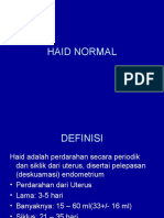 Haid Normal
