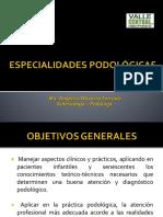 ESPECIALIDADES PODOLÓGICAS(1)