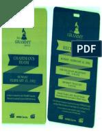 Grammy's 2012