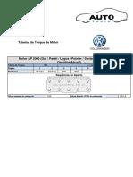 Tabela Aperto-Torque Cabeçote AP2.0