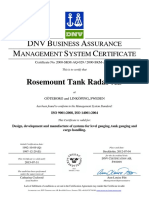 RTR ISO 9001 14001 Certificate