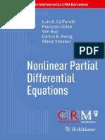 Caffarelli Golse Guo Kenig Vasseur Nonlinear Partial Differential Equations