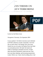 aznar-SEVEN THESIS ON TODAY'S TERRORISM | AR - Absurda Revolución