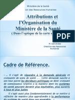 Les attributions et l'organisation du ministère de la santé au Maroc