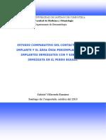 Estudio Comparativo Del Contacto Hueso-implante y El Area Osea en Implantes Inmediatos Con y Sin Carga en El Perro Beagle