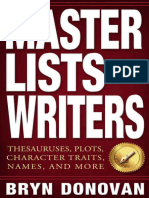 MASTER LISTS FOR WRITERS - Thesauruses, Plots, Character Traits, Names, and More.epub