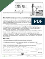 History of Rock n Roll Worksheet