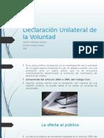 Declaración Unilateral de La Voluntad