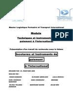 Les Incoterms Et Les Instruments de Paiements Internationaux