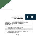 Carpeta de Trabajo Técnica Contable I 2013 I TERMINADO
