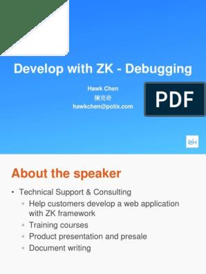 Develop With ZK -- Debugging Tips | Debugging | Software Bug