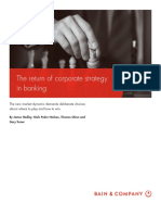 BAIN BRIEF the Return-Of-corporate Strategy in Banking