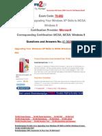 [Braindump2go] Latest 70-692 PDF Free 41-50