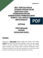 Format Kertas Kerja Peruntukan Bantuan Khas Perbendaharaan KPWKM - Terkini 2014