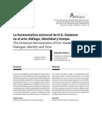 La Hermeneutica Universal de Gadamer