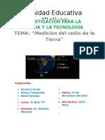 Calculo Del Radio de La Tierra Tiempo