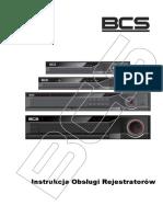 Instrukcja Obsługi Do Rejestratorów Analogowych Sieciowych i Hybrydowych BCS