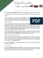Alquiler de Autos en Uruguay. Comentarios