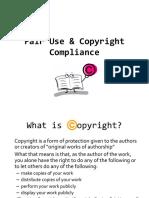 fair use   copyright compliance