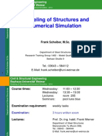 Modelling of Structures and Numerical Simulation