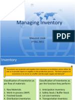 Managing Inventory- Class10