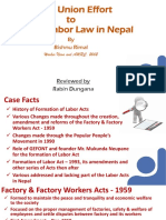 Trade Union Effort in Nepal A Review