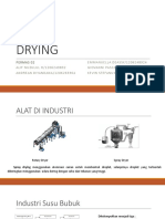 Assignment 06 Presentasi DRYING Spray Dryer Alif Andre Deassy Pasca Kevin