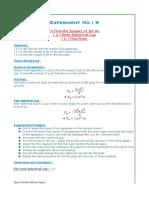 Exp #9 fluid lab 9 experiment