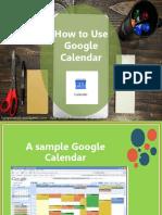 Ligaya_Malay_How to Use Google Calendar
