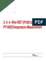 2- 3- 4-Wire RTD Measurement
