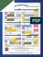 2015 Cubs Schedule