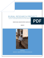 Rural Project on Consumer Behavior and Category Perception