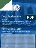 GE Powergen Products