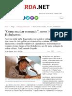 _Como Mudar o Mundo_, Novo Livro de Hobsbawm _ Esquerda