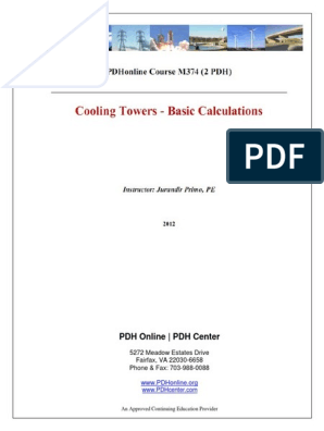 Cooling Tower Basic Calculation pdf   Humidity   Relative