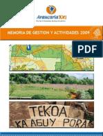 memoria Araucaria 2009
