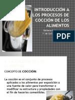 Introducción Procesos de Cocción