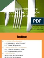Presentación Procesos de Cocción