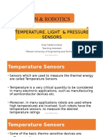 Temperature, Light & Pressure Sensors