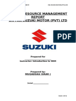 HRM Report Strategic Goals of Pak Suzuki Motor Co. Ltd