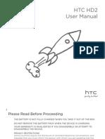 T-Mobile HTC HD2 User Manual