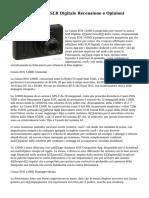 Canon EOS 1200D SLR Digitale Recensione e Opinioni