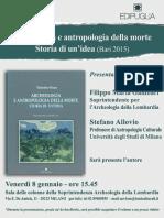 Milano 8-12-2016 Pres. Archeologia e Antropologia Della Morte