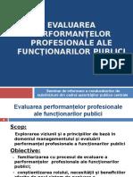 evaluarea performantelor profesionale