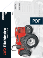 Mahindra 4025-4WD Operators Manual