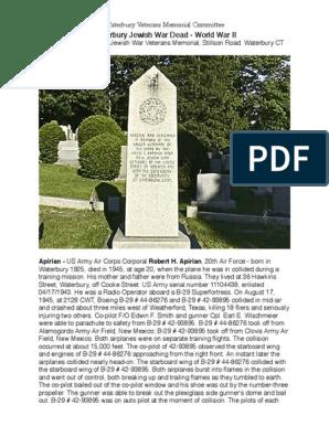 Waterbury's Jewish WW II War Dead | International Security